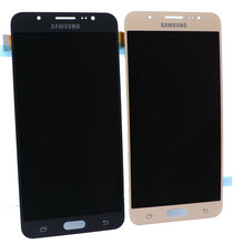 Super AMOLED LCD J7 for Samsung Galaxy 2016 J7108 J7109 mobile phone touch screen digitizer components and replaceme