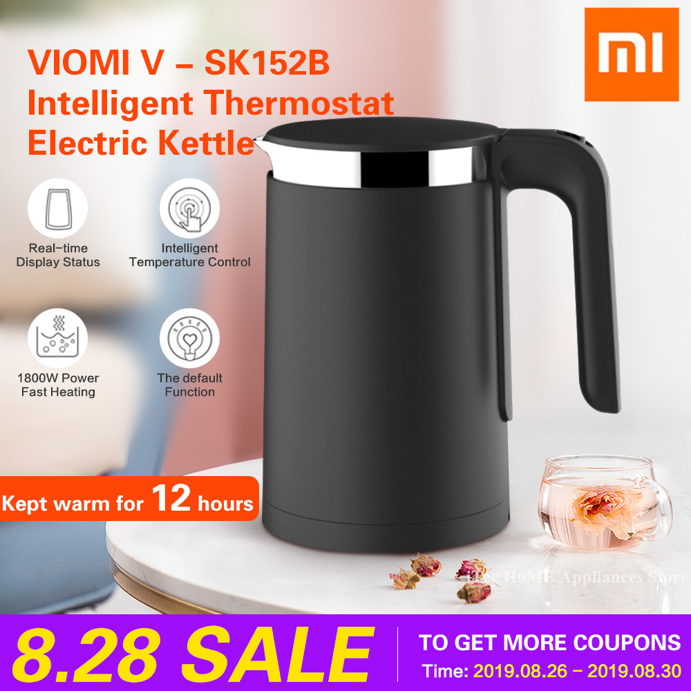 Xiaomi Kettle Intelligent VIOMI Pro Thermostat Anti-scald Water Kettle Household 1.5L 304 Stainless Steel Electric Kettle 1800W