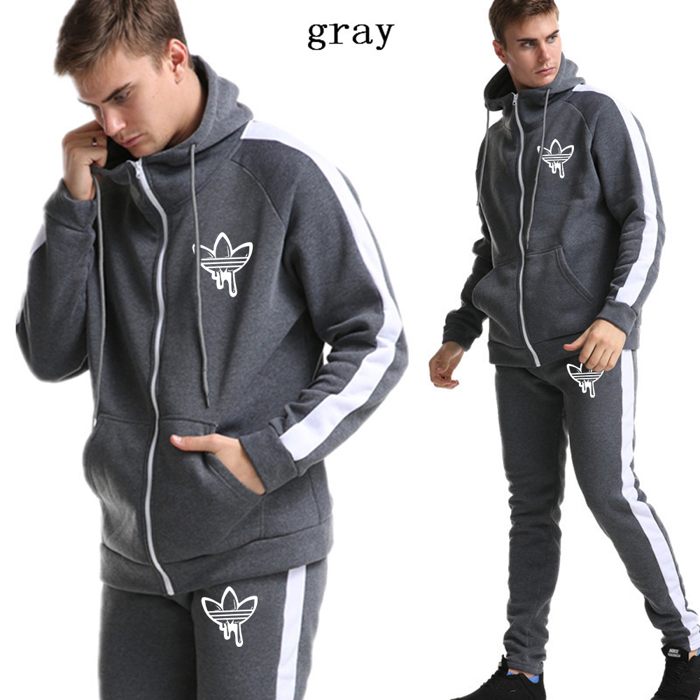 Streetwear Fashion Solid Hoody Men's Pullover Men's Tracksuits Male Hoodie Coats Suit Clothes 2019 New Fashion Brand Hoodie