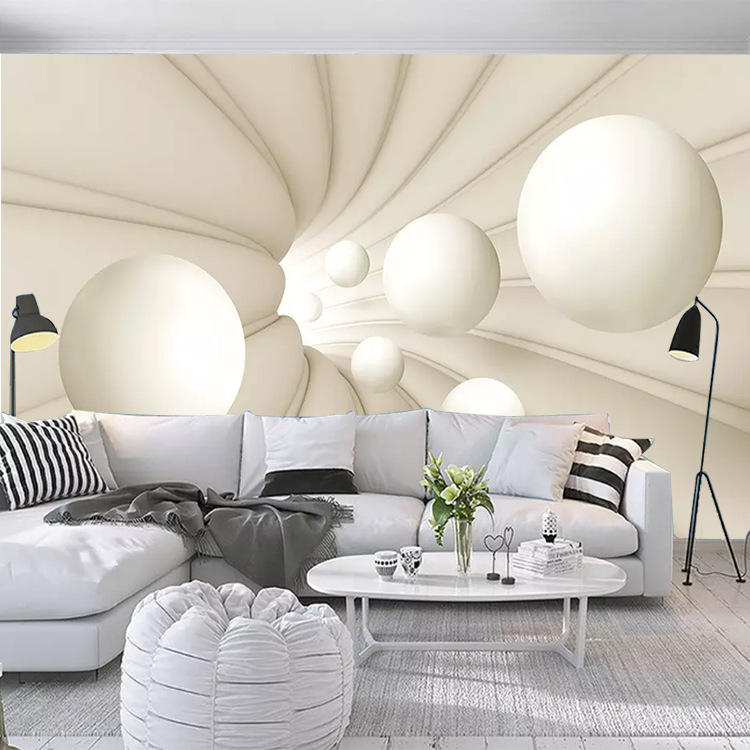 Customizable Cool 5D Abstract Space Spherical Whole Piece 3D Seamless Mural Living Room Bedroom Sofa TV Background Wallpaper