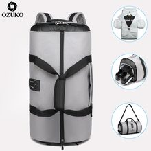 Дорожный рюкзак OZUKO для мужчин, вместительный женский многофункциональный водонепроницаемый ранец для поездок с карманом для обуви