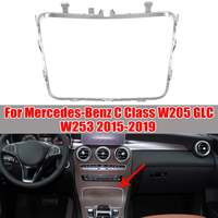W253 W205 Car Water Cup Holder Strip Plating Ashtray Trim Ring For Mercedes For Benz C Class W253 W205 GLC200 2015 2019