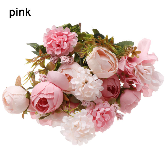 Eternal Blossom Dried Flower Bouquets Rose Holding Flowers Artificial Flowers