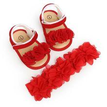 Newborn Baby Girl Summer Sandals Anti slip Prewalker Kid Soft Sole Crib Shoes Baby Princess Shoes