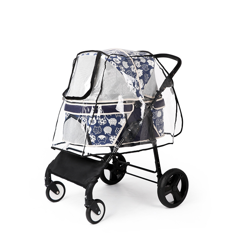 Pet Stroller Rain Cover Stroller Rain Cover Cart Rain Cover for All Kinds of Cat and Dog Carts 15