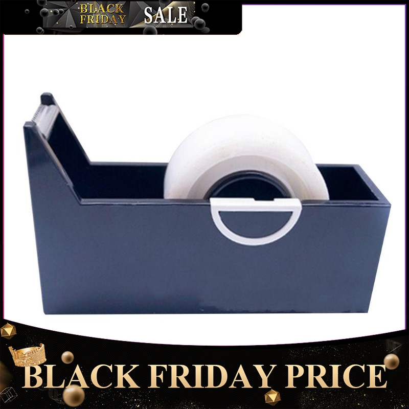 Creative Square Plastic Tape Seat Tape Holder Office Tape Dispenser Desktop With Tape Cutter Supplies R20