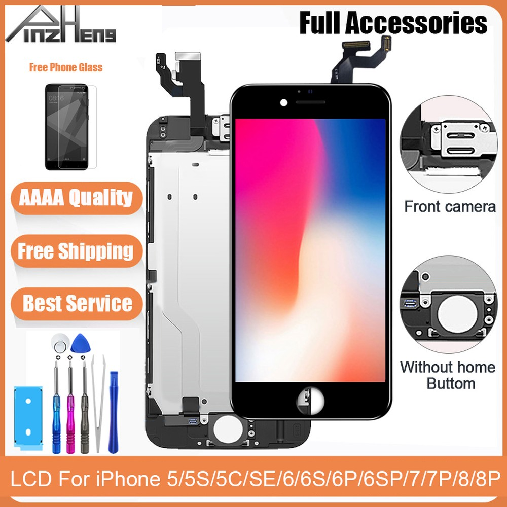 Original Screen LCD For iPhone 5 5C SE 5S 6 6S 7 8 Plus Display Full Assembly Digitizer No Dead Pixel 3D Touch Replacement LCD image
