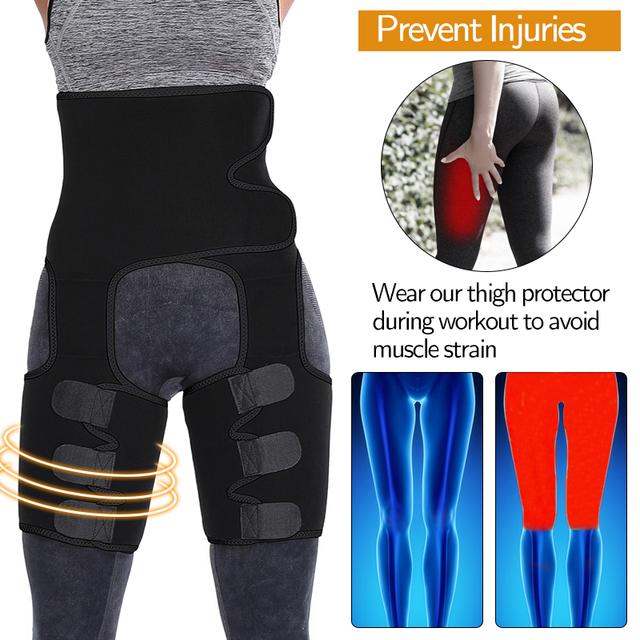 Slim Thigh Trimmer Slender Leg Shapers Slimming Belt Weight Loss Waist Trainer Slimmer Exercise Thermal Wrap Sweat Shapewear 4