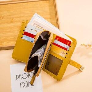 Image 3 - Hakiki deri tasarımcı cüzdan kadın cüzdan moda para çantası cep telefonu cep bayanlar lüks uzun çanta 6915