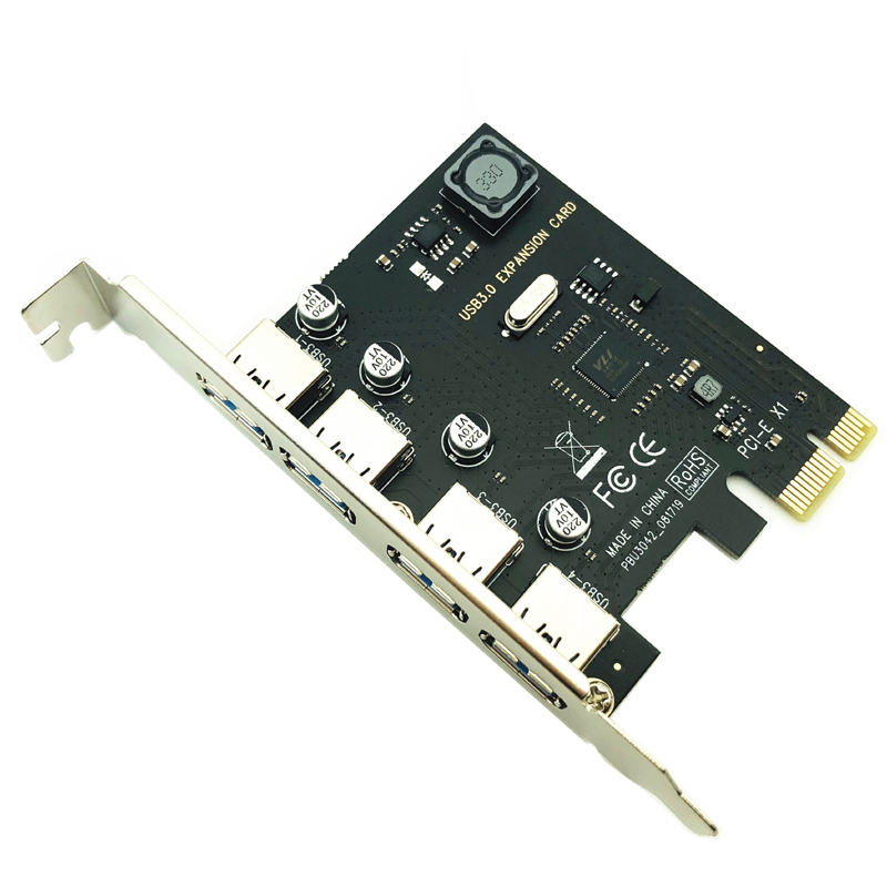 4 Port USB 3.0 PCI-E Expansion Card PCI Express PCIe USB 3.0 HUB Adapter 4-Port USB3.0 Controller USB 3 0 PCI e PCIe Express 1X