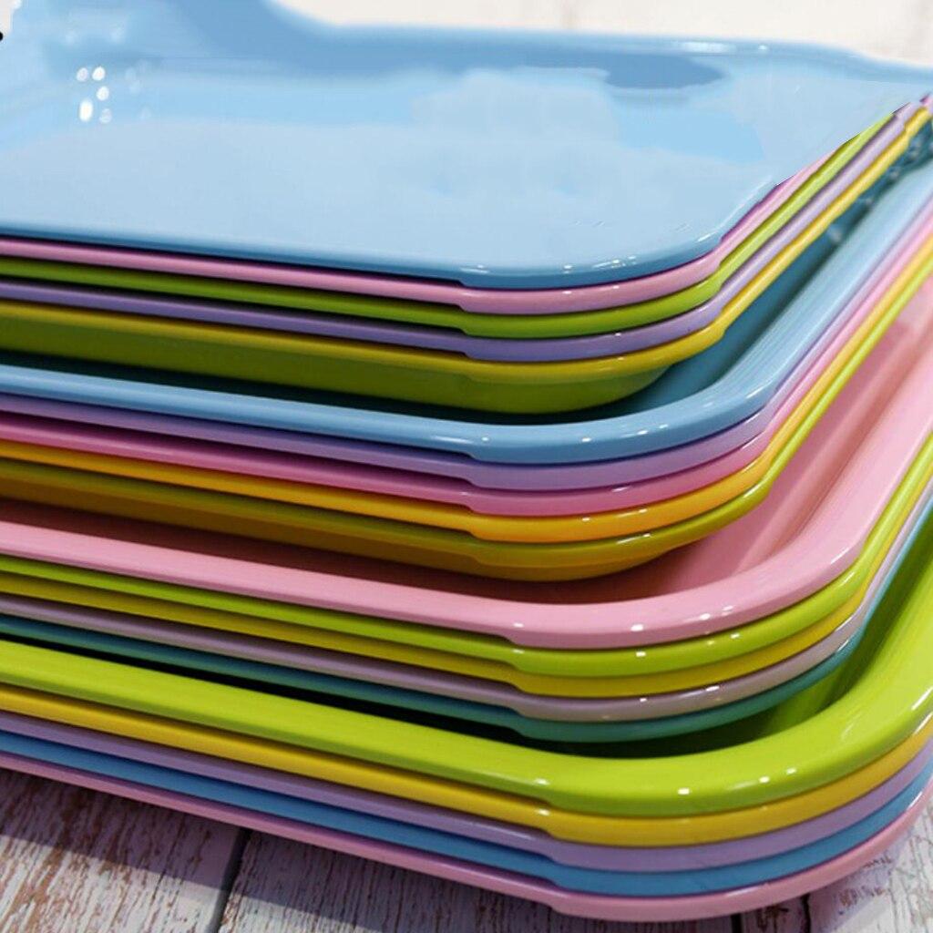 Plastik düz servis tepsisi, kahvaltı/çay aperatif tepsi mutfak Platte çeşitli isteğe bağlı
