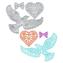 DiyArts Heart Shape Flower Metal Cutting Dies Lovebird DIY Etched Dies Craft Paper Card Making Scrapbooking Embossing New 2019 diyarts heart shape flower metal cutting dies lovebird diy etched dies craft paper card making scrapbooking embossing new 2019