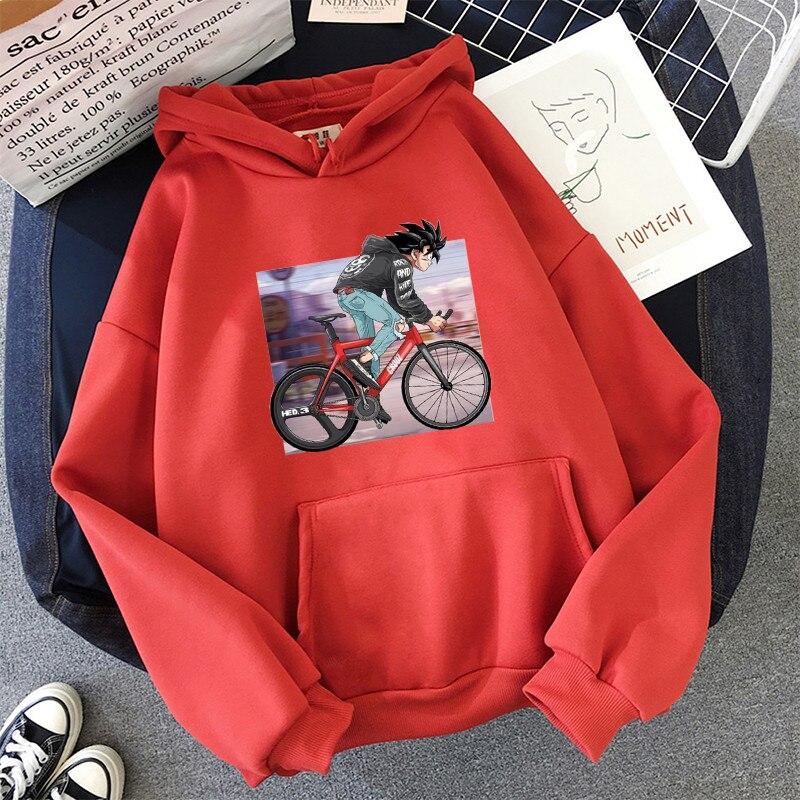 Japanese Anime Printed Hoodies 2021 Spring Autumn Long Sleeve Hoodie Women Cartoon Graphic Streetwear Sweatshirts Female Tops 25
