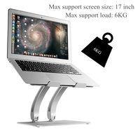 Foldable Aluminum Laptop Stand,Adjustable Multifunction Tablets Book Notebook Cooling Holder for MacBook Air Pro 11 17 inch