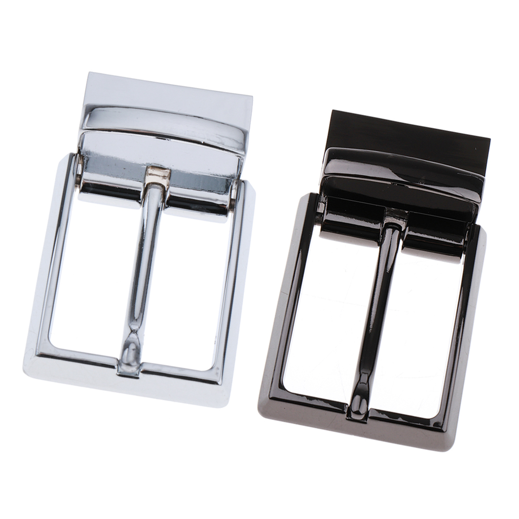 2 Piece Men's Belt Buckle Antique Tone Reversible Buckle Fit's 1.3 Inch/33mm