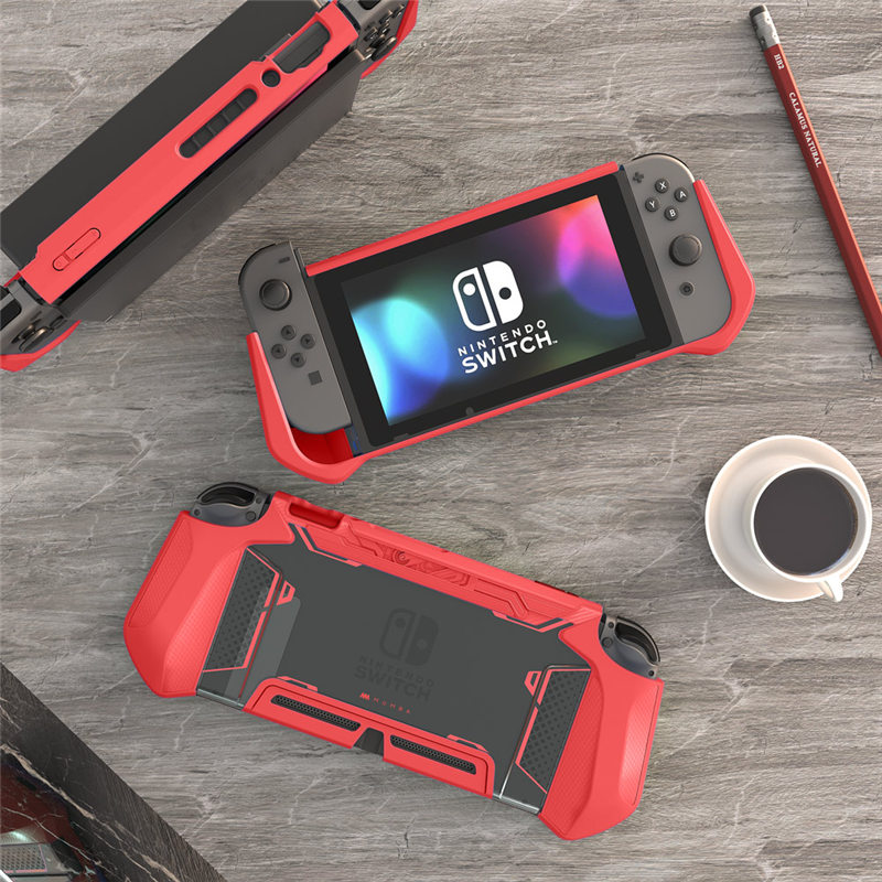 For Nintendo Switch Case MUMBA Series Blade TPU Grip Protective Cover Dockable Case Compatible