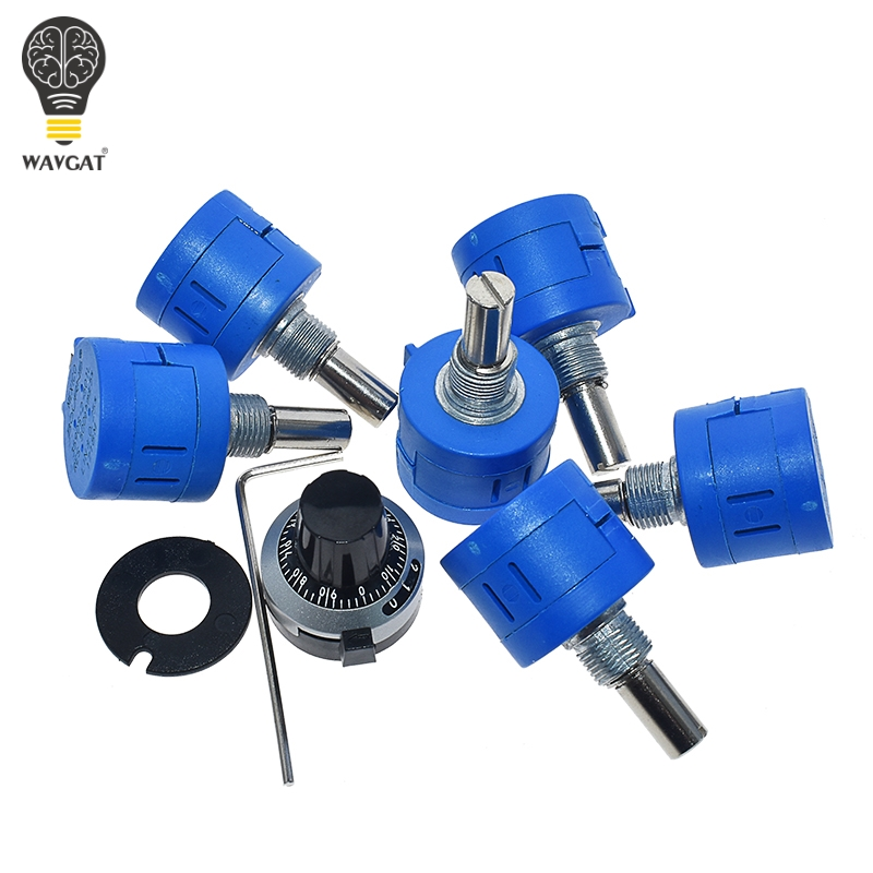 WAVGAT 3590S Multiturn Potentiometer 500 1K 2K 5K 10K 20K 50K 100K ohm Potentiometer Adjustable Resistor 3590 102 202 502 103