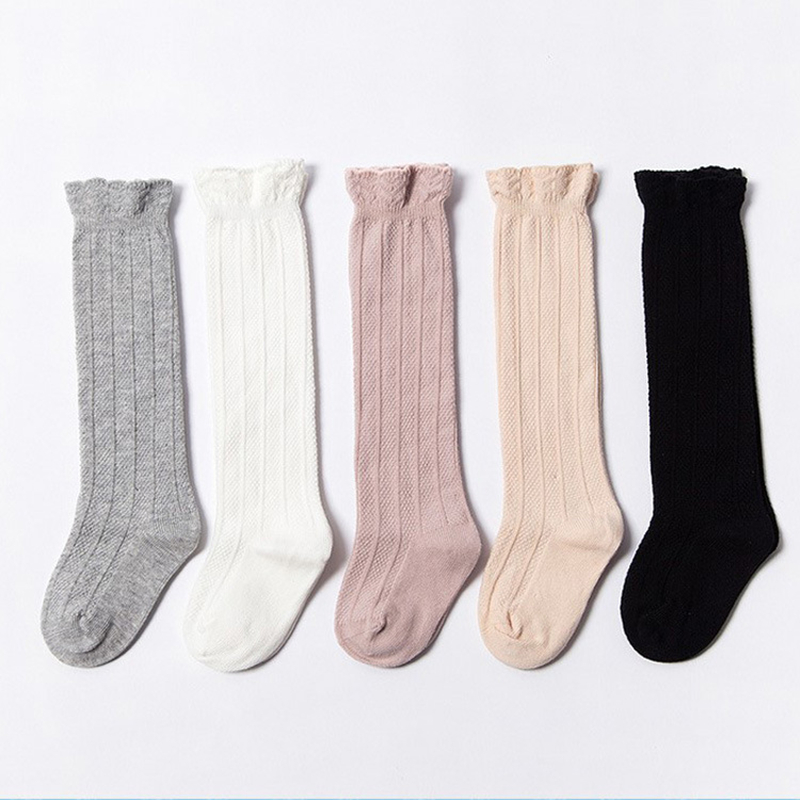 Newborn Baby Girls Socks Spring Summer Autumn Mesh Socks Kids Knee High Long Tube Sock Princess Infant Baby Socks 0-3T