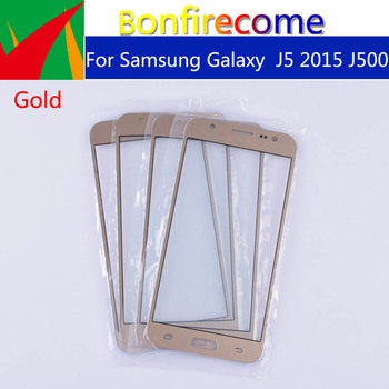 10pcs\lot For Samsung Galaxy J5 2015 J500 J500H J500FN J500F J500M SM-J500F LCD Front Outer Glass Touch Screen Lens Replacement image