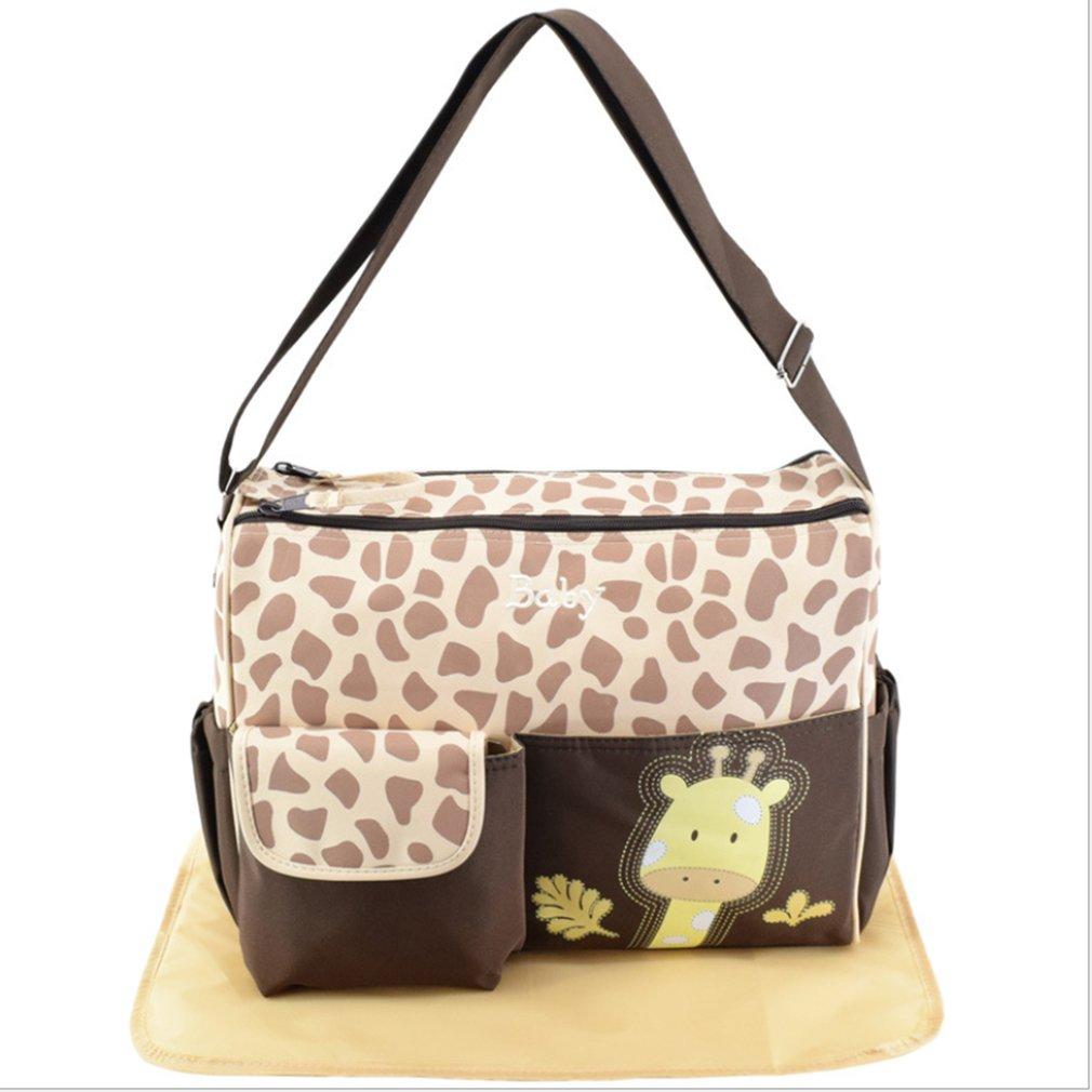 Giraffe Pattern Mummy Bag Multifunction Large Capacity Shoulder Travel Handbag Chidren's Care Products