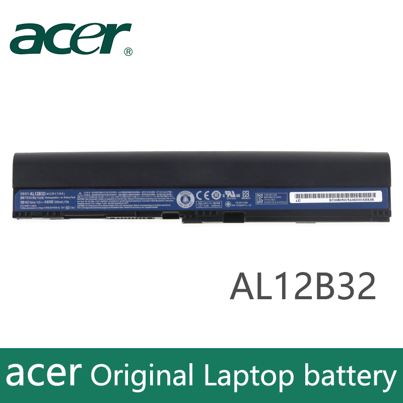 Оригинальный аккумулятор для ноутбука acer Aspire One 725, 756, B113, B113M, AL12X32, AL12A31, AL12B31, AL12B32, AL12B32