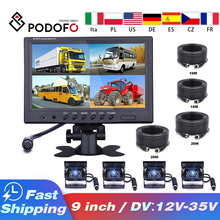 Parking-Camera Caravan Lcd-Monitor Motorhome Car-Rear-View Camper Truck Screen Podofo