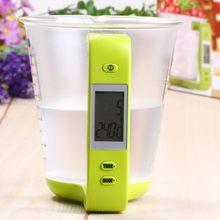 Escala com display lcd de temperatura grande capacidade de medição copo cozinha escala digital copo medição eletrônica cuptool