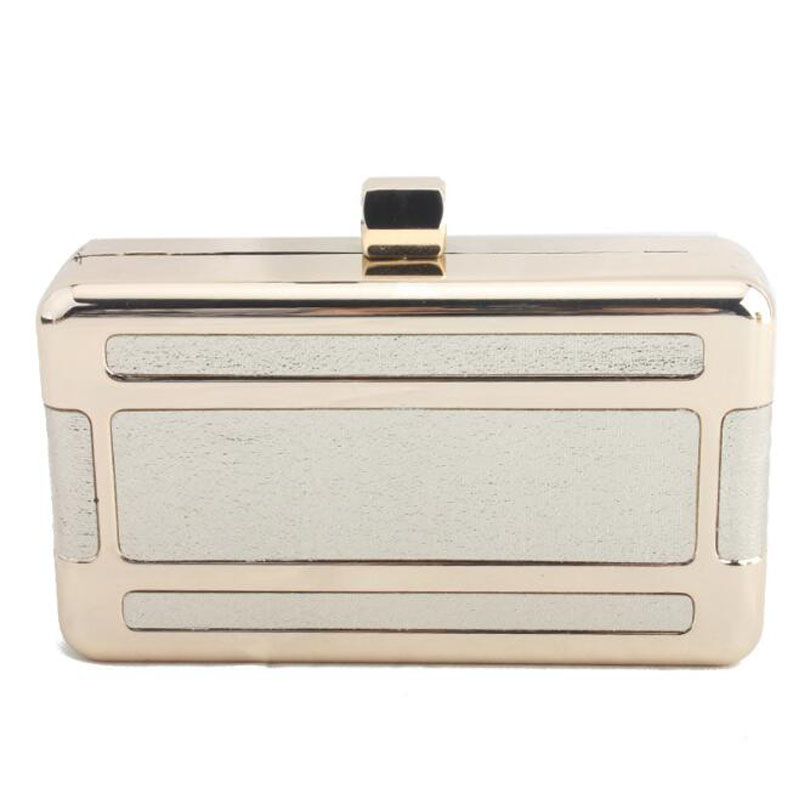 Women Handbags Clutch-Box-Bag Wedding Party Gold Fashion Ladies for New Messenger