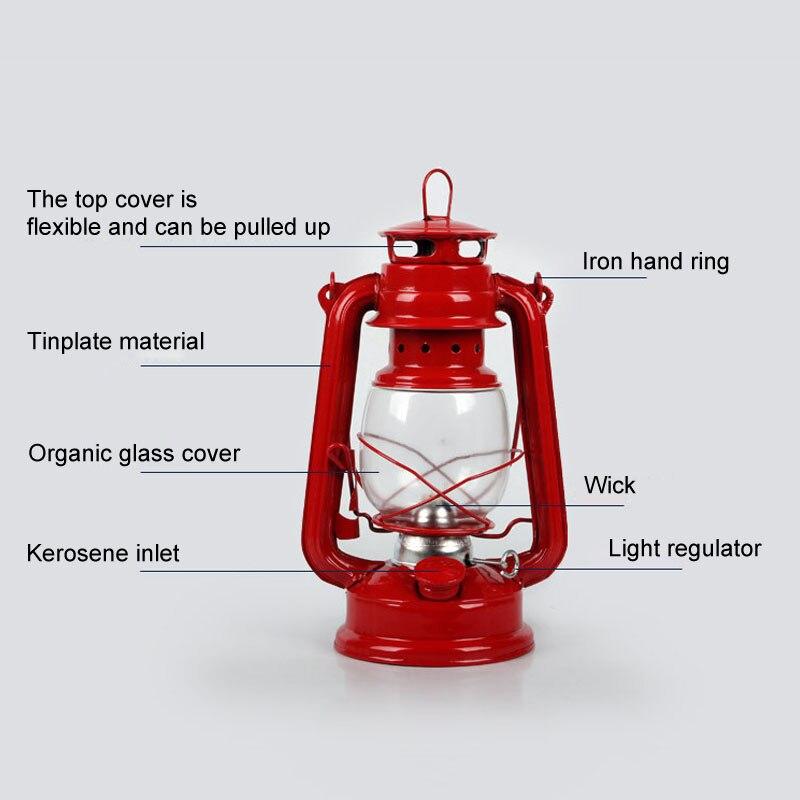 retro classico querosene lampada 4 cores querosene 02