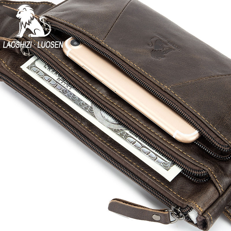 Genuine Cow Leather New Waist Bag For Phone Casual Small Men's Bag Purse Fanny Pack Men Belt Motorcyclist Bags Pouch