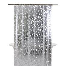 Bathroom Shower Curtain Mould-proof Thicken Partition Curtains Set Punchless Waterproof Translucent Bathroom Curtain стоимость