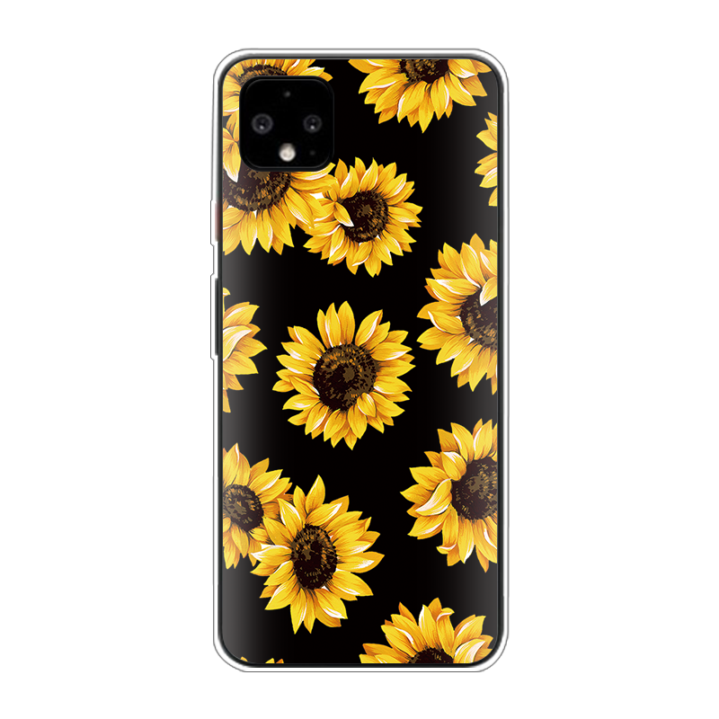 Sunflower Soft TPU Phone Case For Google Pixel 4 XL Soft Fundas For Google Pixel 3A 3 2 XL 3XL Coque Clear Silicone Cover Capas