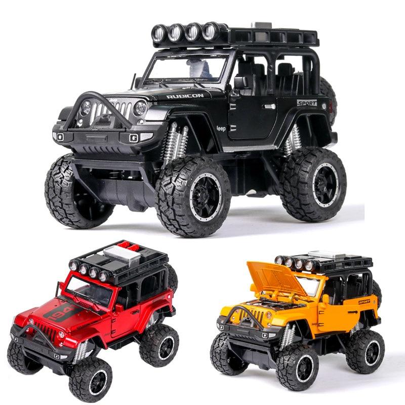 1:32 Jeep Wrangler Rubicon Car Model Alloy Car Die Cast Toy Car Model Pull Back Children