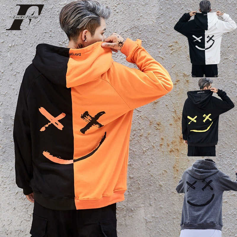 3d Hoodies sweatshirts Pullover Be Happy Smile Face Printed Hip Hop kpop Hoodie Hoody Sport Long Sleeve Hooded clothes Tops