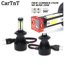 CarTnT 2Pcs LED H4 H7 H8 H13 5202 9005 9006 H8 9012 9004 HB3 12V 8000LM HB4 9007 H11 LEVOU Lâmpadas Dos Faróis Do Carro 6500K Auto CONDUZIU a Lâmpada
