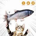 3D игрушка для кошек в форме рыбы, Интерактивная игрушка для кошек, мягкая подушка, имитация рыбы, игрушка для питомца, мягкий плюш