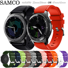 Band For Samsung Galaxy watch 46mm 42mm active 2 gear S3 Frontier huawei watch gt 2e 2 amazfit bip gts strap 20 22mm watch strap cheap SAMCO 22cm Watchbands Silicone New without tags galaxy 1 For Samsung Gear S3 Frontier Classic for garmin vivoactive 3 4 4s GT2e GT2 xiaomi haylou ls05 smart watch