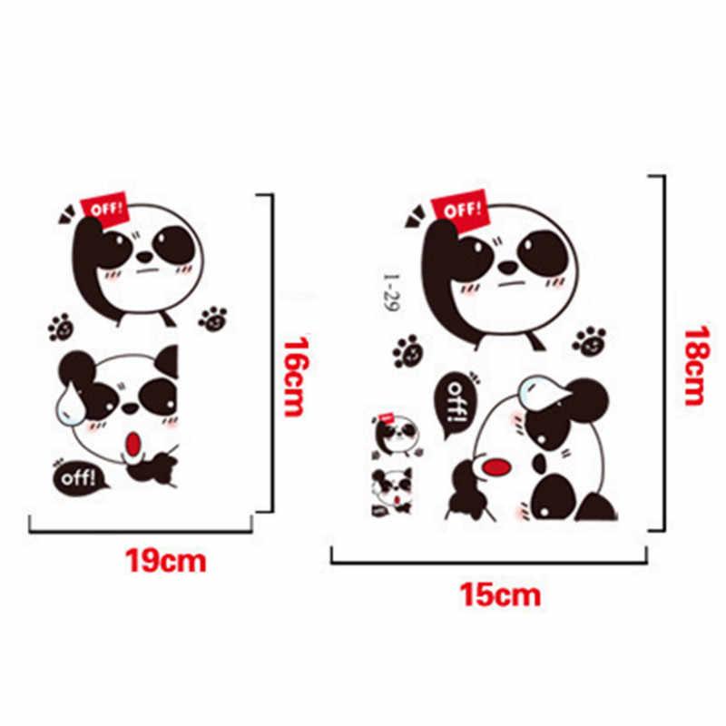 2 stücke Niedlichen Tiere Katze Bär Wand Aufkleber Licht Schalter Cartoon Vinyl Aufkleber Remoable Tapete Für Kinder Baby Home Aufkleber decor