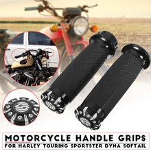25mm Motorcycle CNC Hand Grip Handlebar for Harley Touring Sportster Dyna Motorbike Carbon Fiber