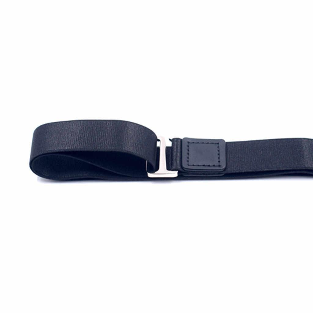 Ajustable cerca de camisa-quédate mejor camisa queda negro Tuck es de cuero de camisa con cinturón escondido camisa queda sujetador de camisa hombre