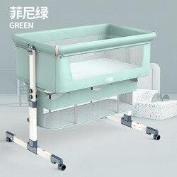 Tragbare Abnehmbare Krippe Faltbare Hohe und Niedrigen Stell Nähte Große Nacht Bett Baby Lift baby bett