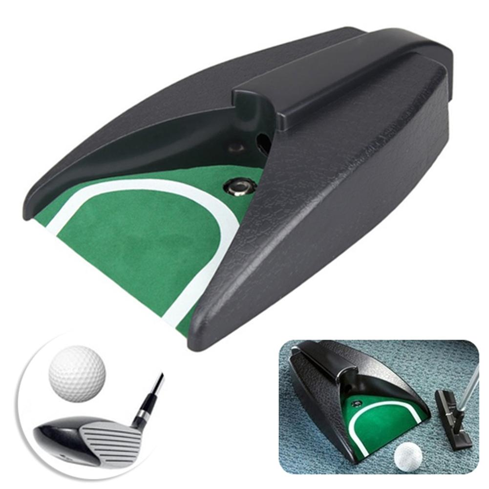 Automatic Golf Ball Trainer Kick Back Return Indoor Putting Device Practice Training Cup Aid