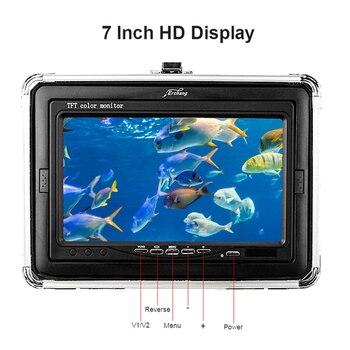 Erchang DV3524E 15 M 1000TVL 7 Inch Monitor 12 Pcs Led Infrarood Licht Onderwater Vissen Camera Voor Ijsvissen