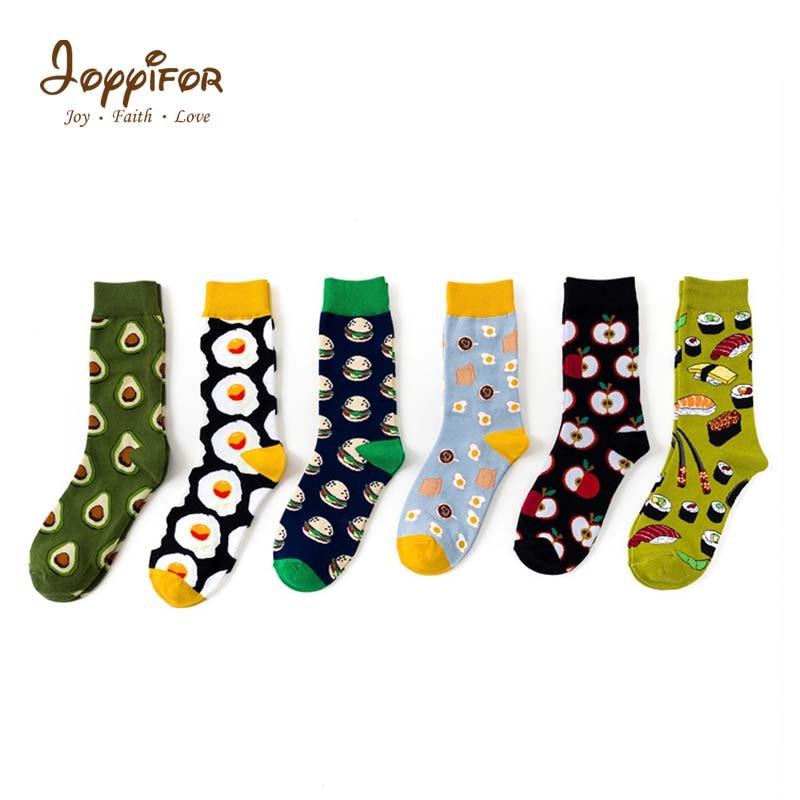 2019 Fashion Style Creative Funny Food Apple Eggs Pattern Avocado Antiskid Girls Boy Socks Japanese Winter Warm Soft Street Sock