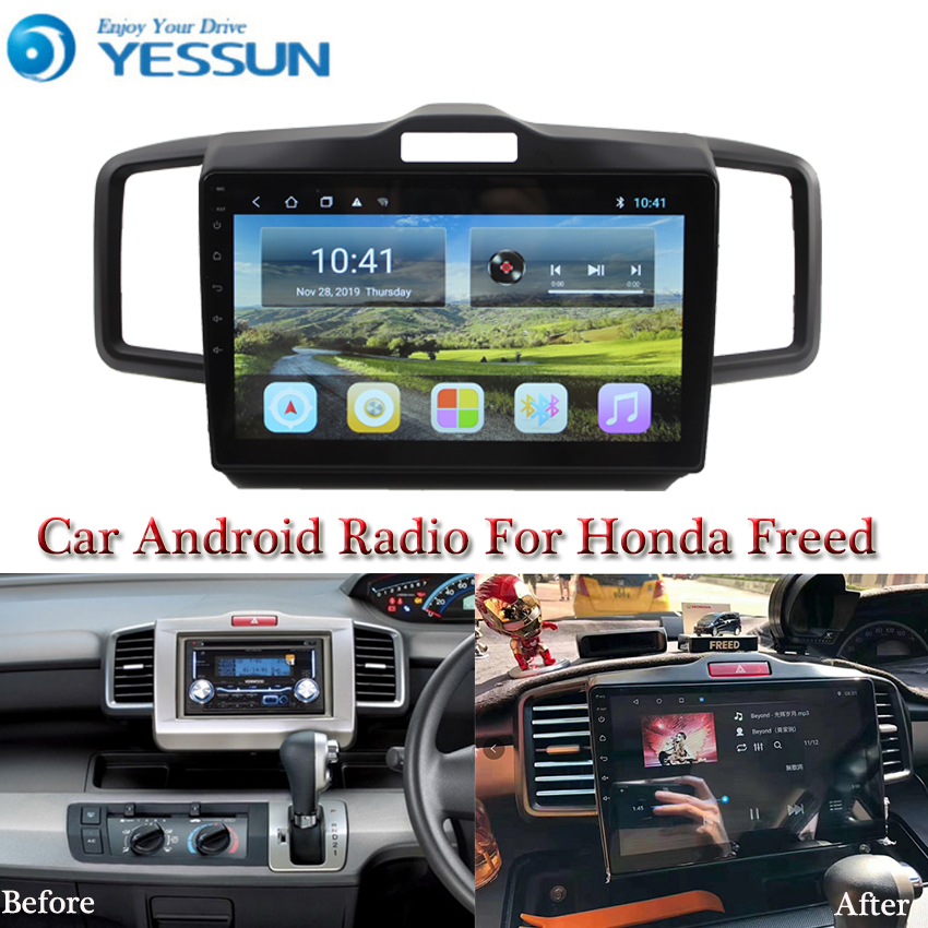 YESSUN Car Android Multimedia Player For Honda Freed GPS Navigation Big Screen Mirror Link AUTO Radio Bluetooth