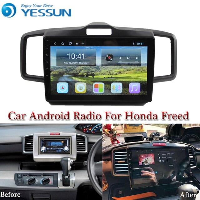 Yessun Auto Android Multimedia Speler Voor Honda Freed Gps Navigatie Grote Scherm Spiegel Link Auto Radio Bluetooth