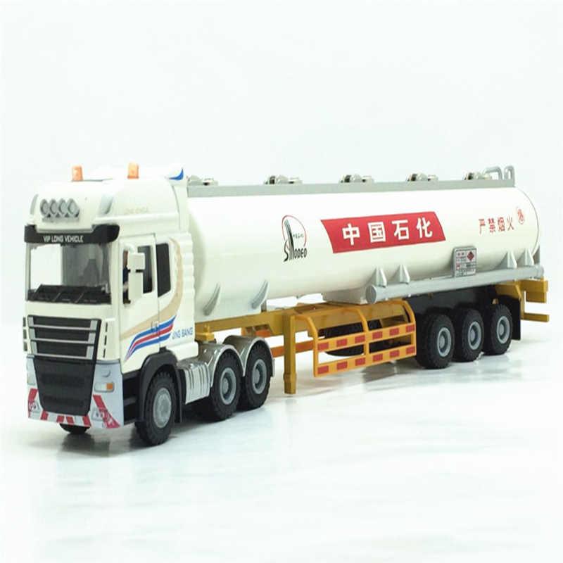 1/50 Ratio Jingbang Alloy Die-casting ขนส่งน้ำมันรถบรรทุกรถบรรทุกรถพ่วงเรือบรรทุกเต็มรูปแบบโลหะทำเด็กของเล่น