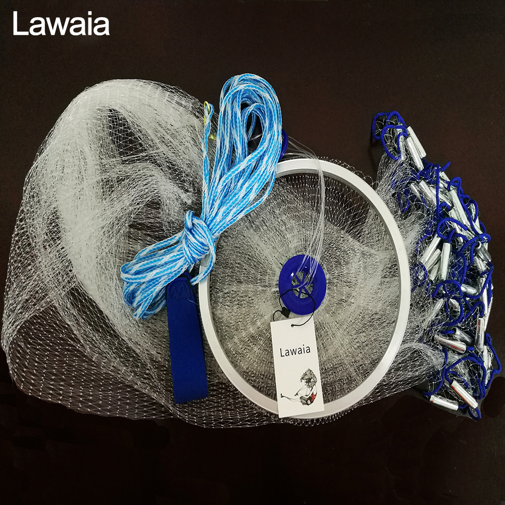 Lawaia Hand Cast Net 240cm-500cm Fishing-net Fishing Net American Sign Cast Network Folding Fishing Network Cast Net