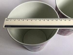 Image 4 - 10 ピース/ロットD12.5xH14cm小さな花瓶ポット金属植木鉢家の装飾の結婚式ポットの写真撮影の小道具