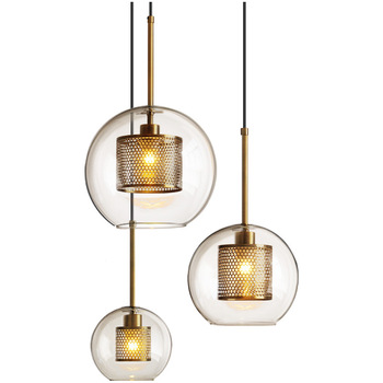 Vintage Silver/gold Round Glass Led Hanging Lamp for Dining Room Bar Living Room Bedside Pendant Lights Fixtures Free Shipping vintage silver gold round glass led hanging lamp for dining room bar living room bedside pendant lights fixtures free shipping